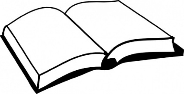Open Book Cover Drawing : Book cover clip art clipart panda free images