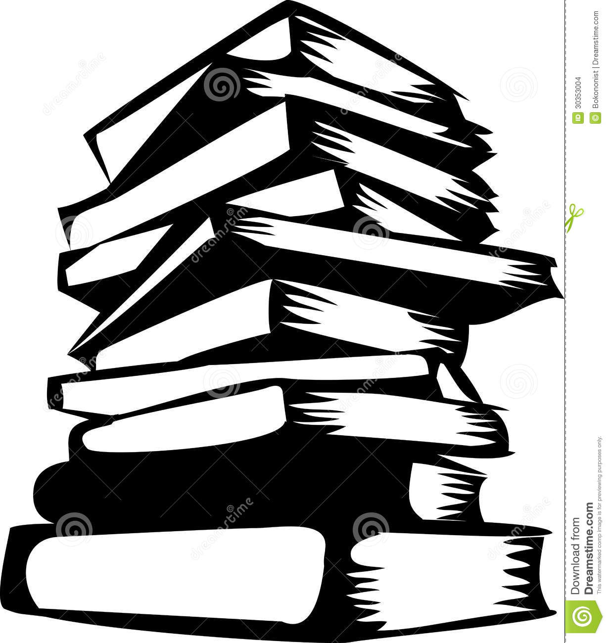 Stack Of Books Clipart Black And White Clipart Panda - Free ...