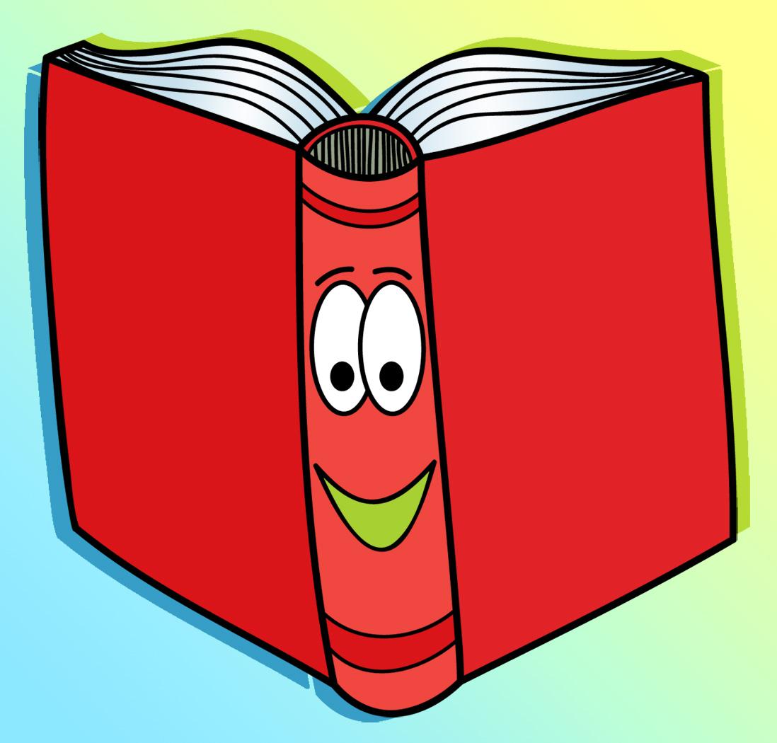 Library books clip art