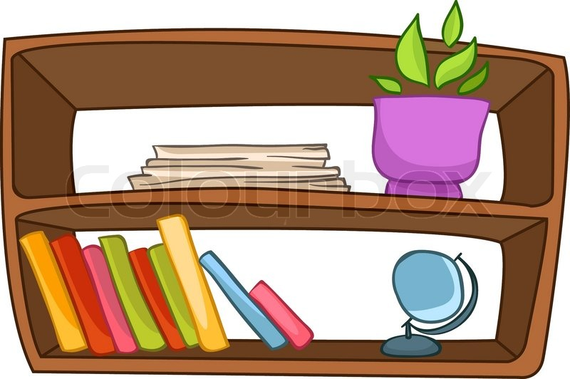 Bookshelf With Books | Clipart Panda - Free Clipart Images