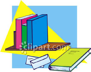 Bookshelves With Books Clipart  michelecinfo