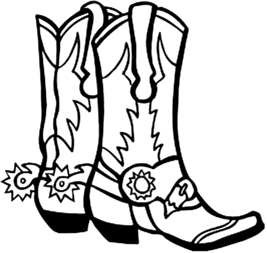 Use these free images for your websites  art projects  reports  and    Cowboy Boots Clip Art Black And White