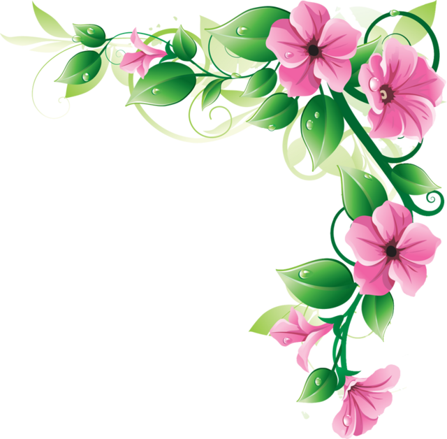 Pink flower border clipart clipart panda free clipart images border clipart pink flower border clipart mightylinksfo Images