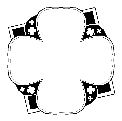 Borders Clipart Black And White  Clover Frame