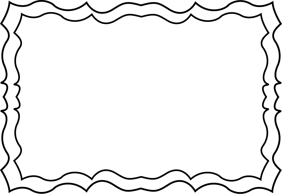 free black and white clip art borders - photo #14