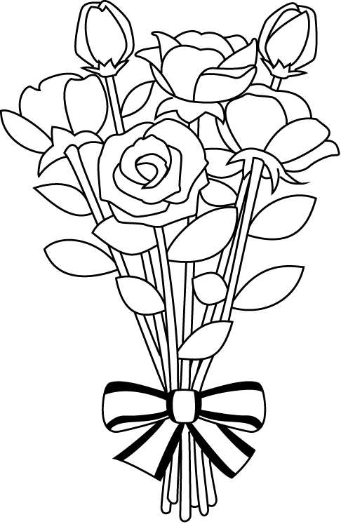 Wedding Flower Line Drawing : Flower bouquet clip art clipart panda free images