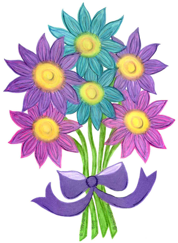 Bouquet Of Flowers Drawing Clipart Panda Free Clipart