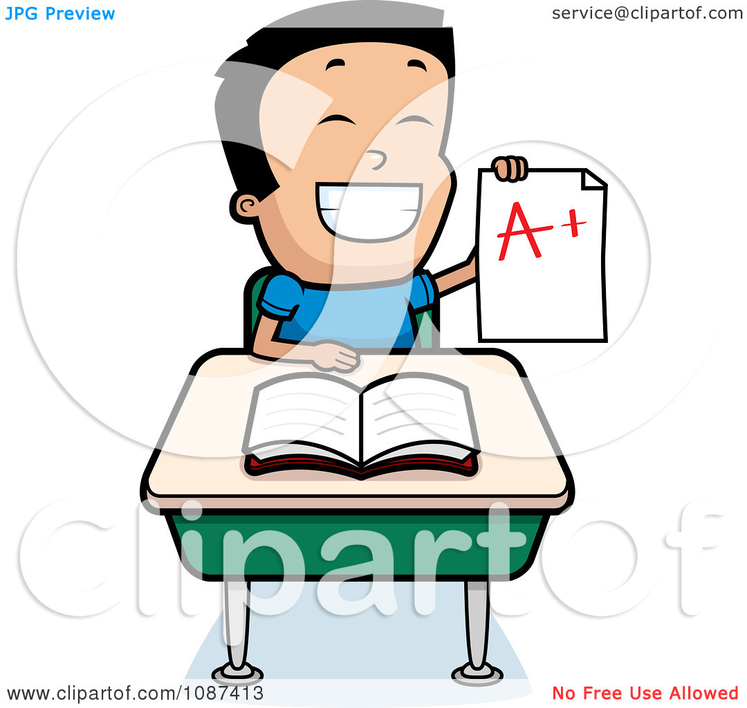 good student sitting at desk clipart | clipart panda - free clipart