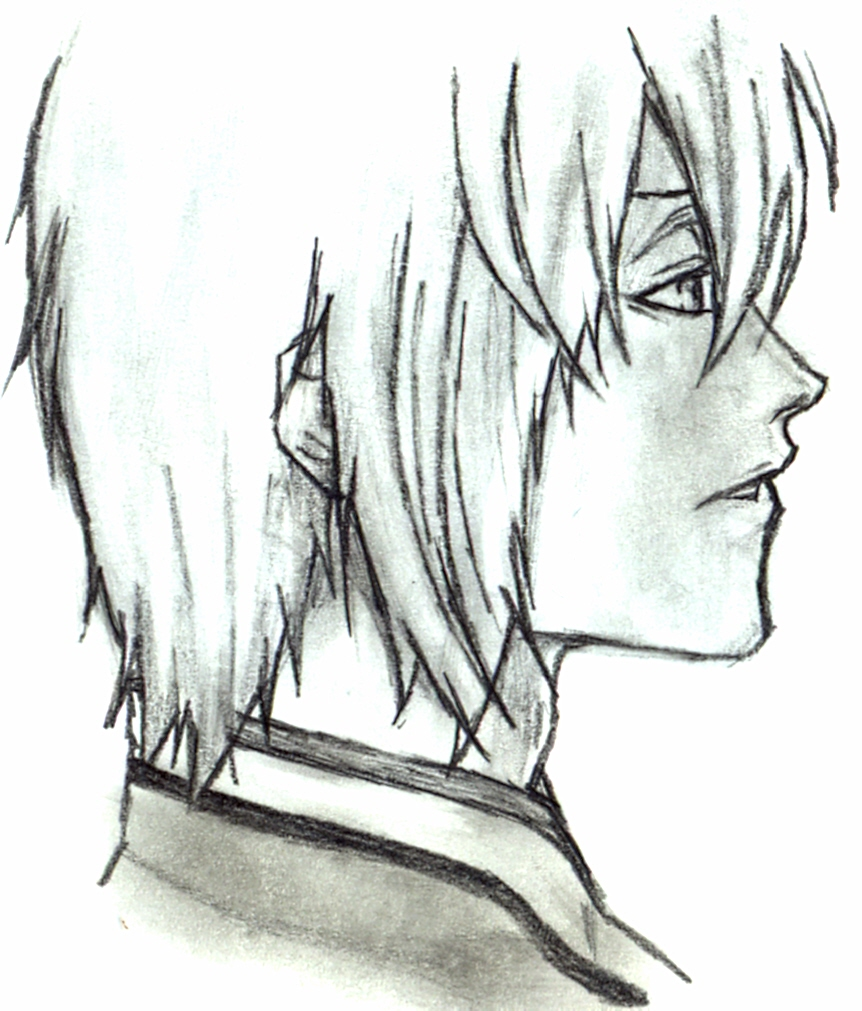 Boy hair drawing anime guy with white hair by