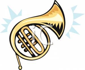 brass french horn clip art