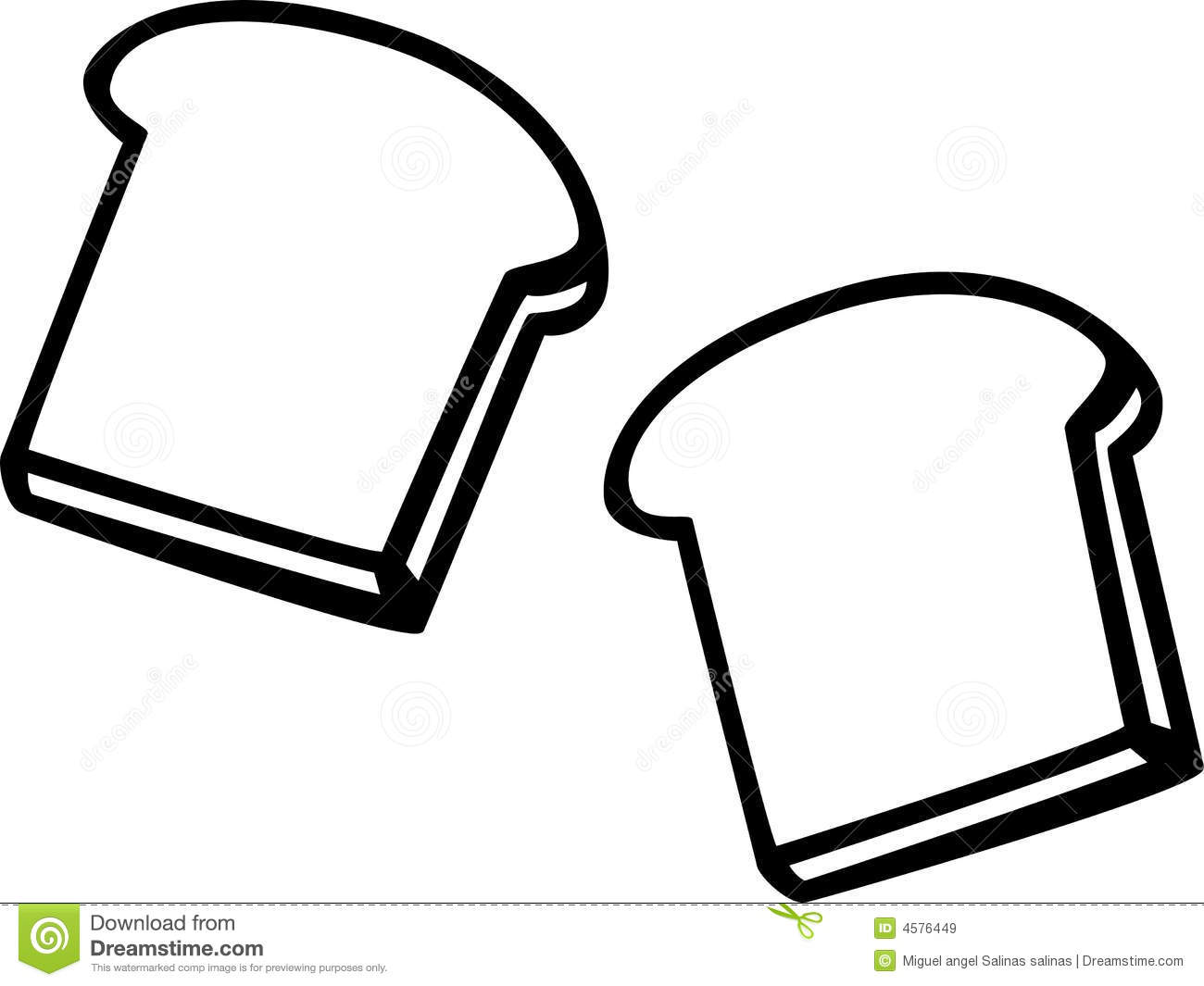 Free Coloring Pages Of Bread Drawings
