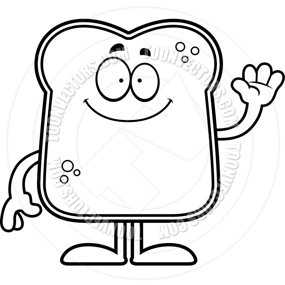 Bread Slice Drawing Bread Clipart Black And