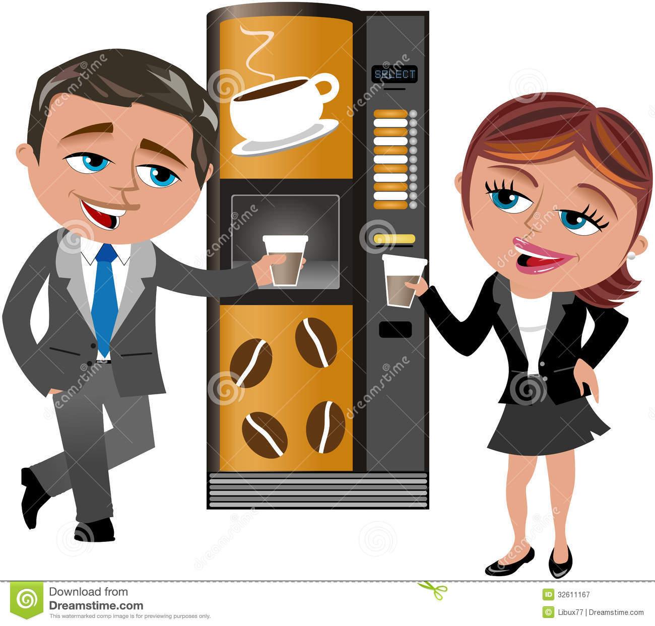 Collegues Machine A Cafe