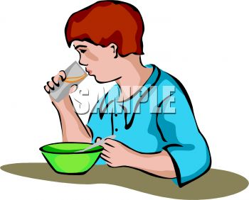 Clipart Eating Breakfa...
