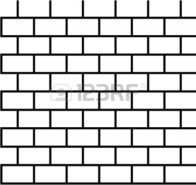 Brick House Clipart Black And White
