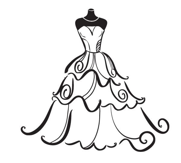 wedding dress outline clipart panda free clipart images wedding dress clip art images wedding dress clip art images
