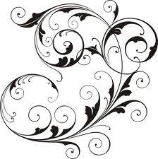 Flower clip art images black and white dress