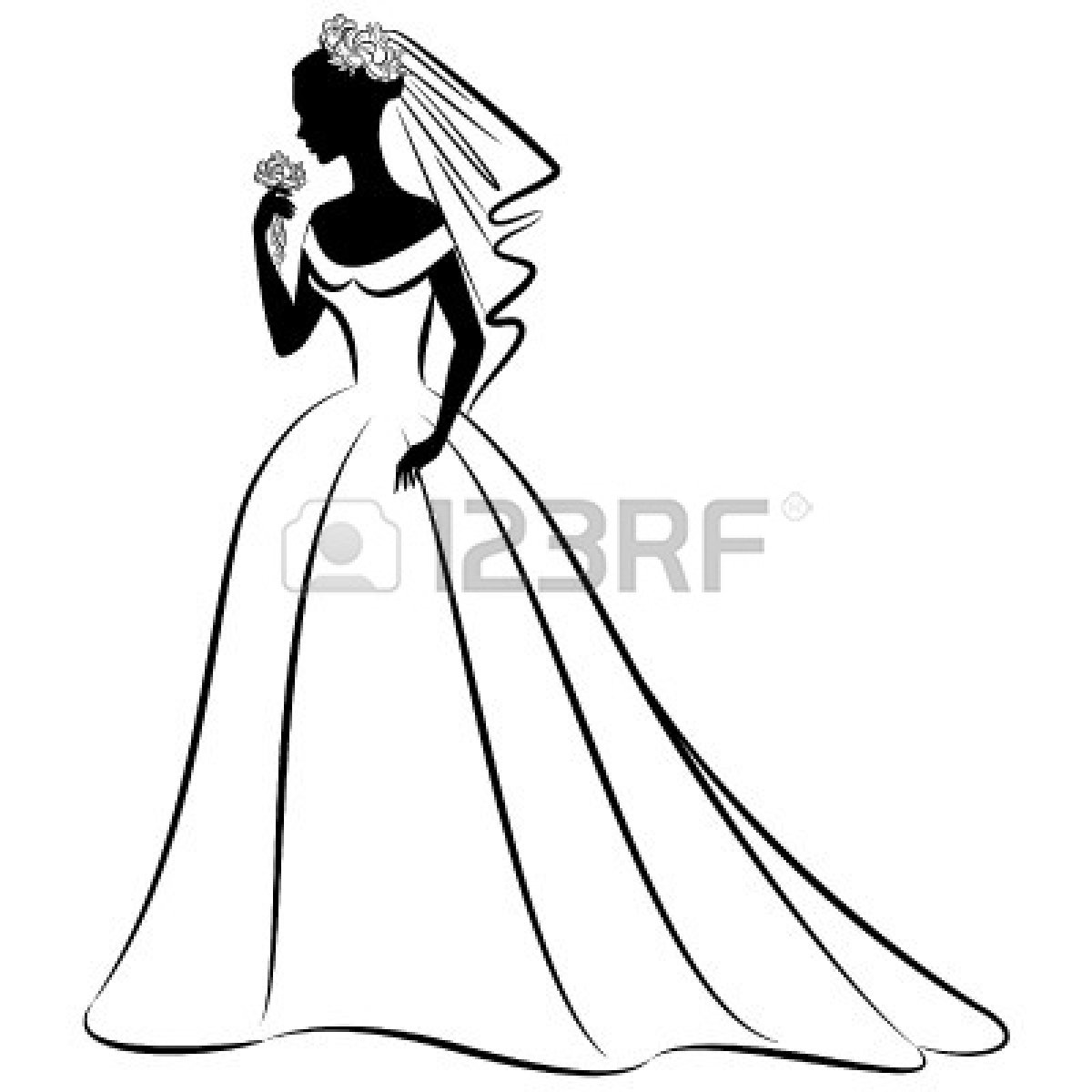 Bride 20and 20groom 20clipart 20black 20white