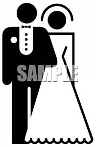 bride%20and%20groom%20clipart%20black%20and%20white