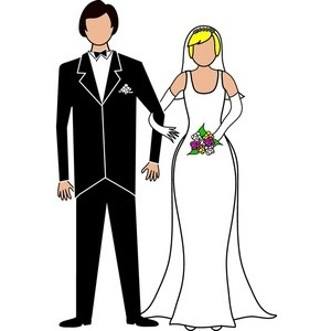 Clip Art Bride And Groom Clipart bride and groom clipart black white panda free