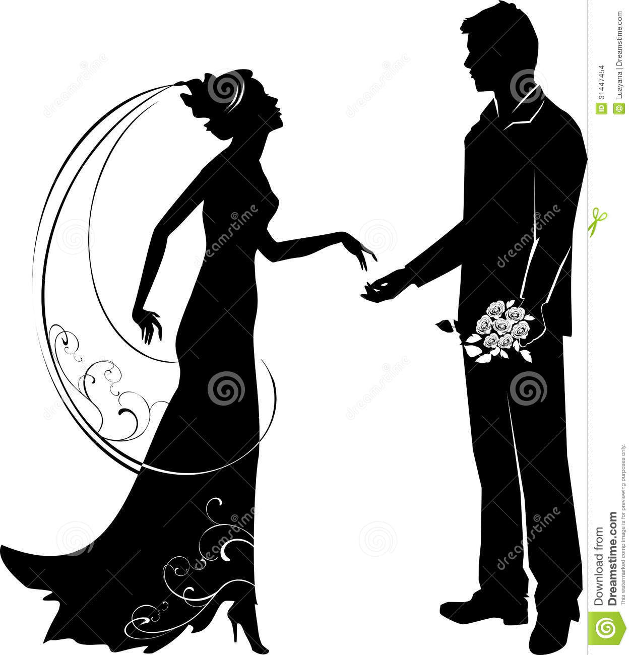 Bride And Groom Clipart Black And White | Clipart Panda - Free ...