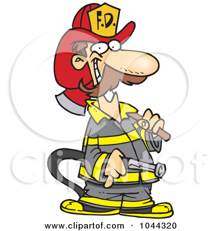 Cartoon Fireman Putting Out Fire | Clipart Panda - Free Clipart Images