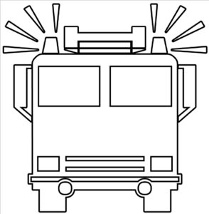 Firetruck Clipart Black And White | Clipart Panda - Free ...