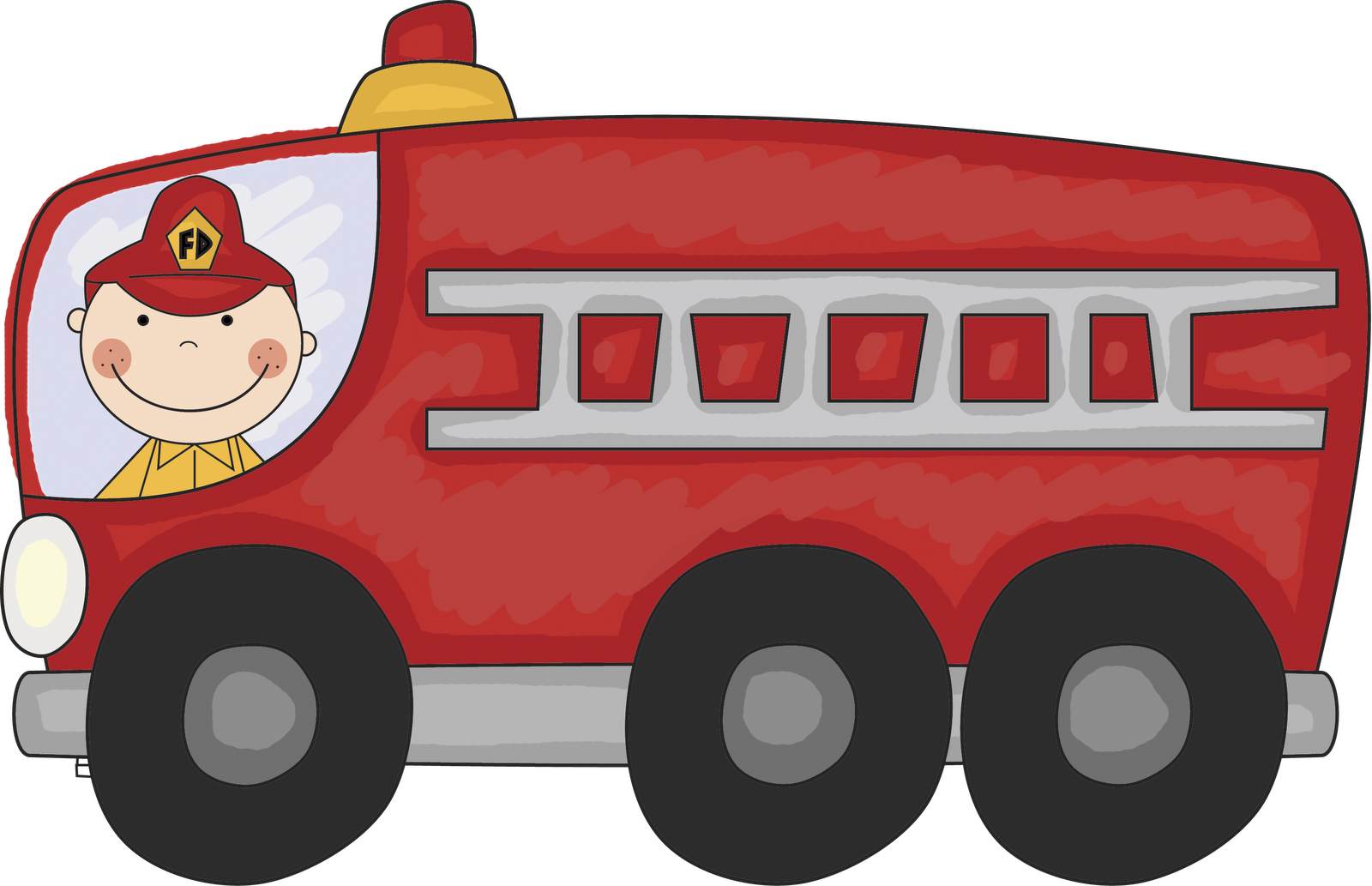 free clipart images fire trucks - photo #4