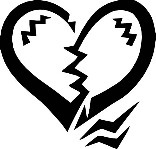 Broken Heart Clipart Black And White | Clipart Panda - Free ...