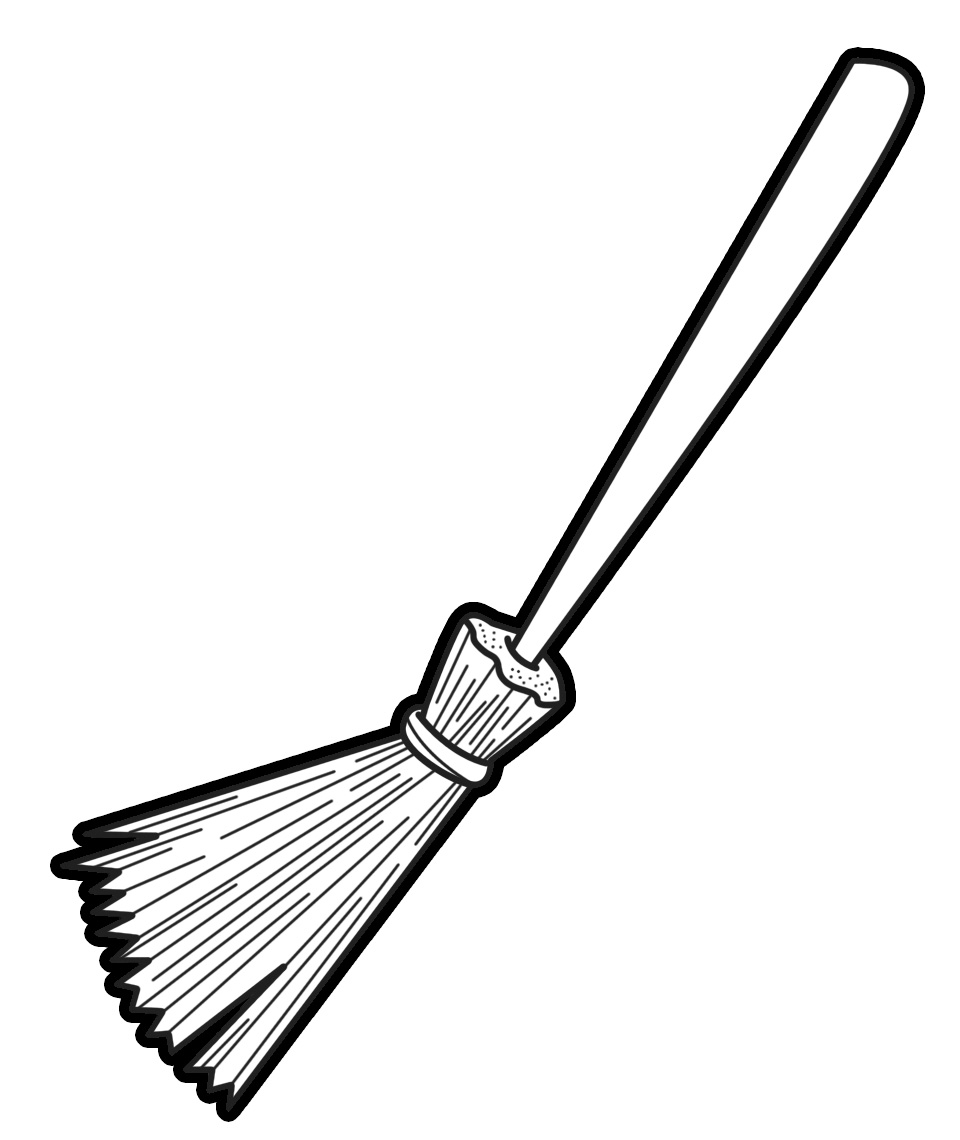 Clip Art Broom Clip Art broom clipart black and white panda free images