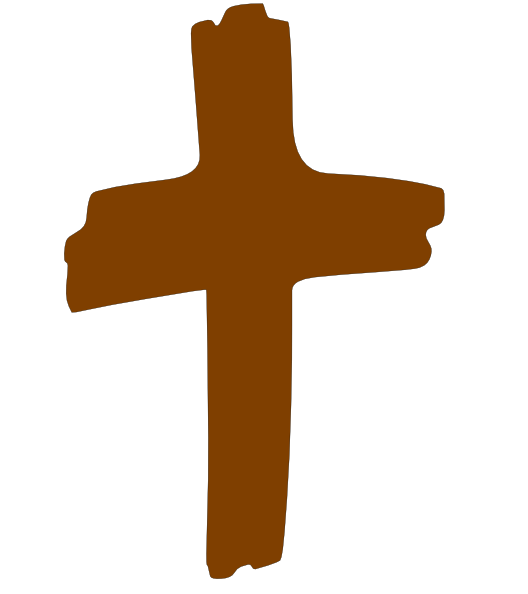 Cross brown. Clip art vector clipart