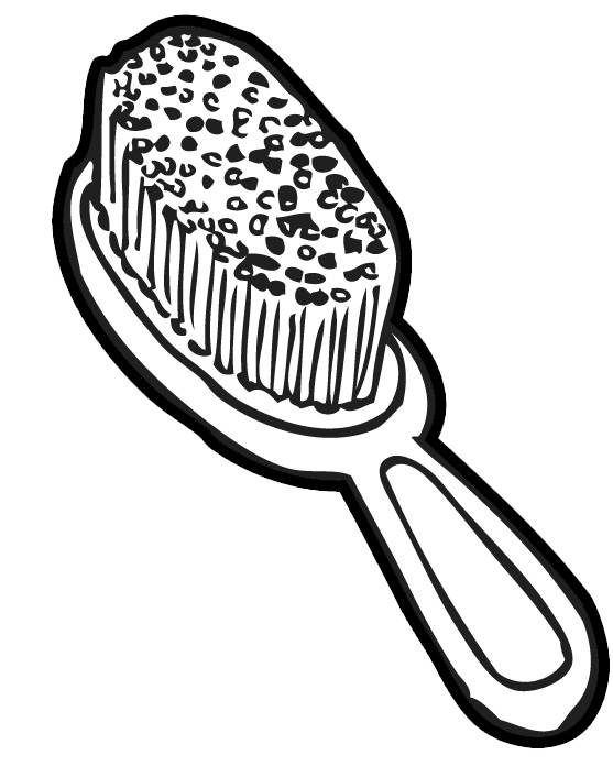 hair brush clipart panda free clipart images
