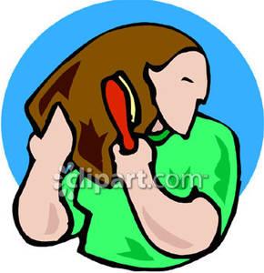 Brushing Hair Cliparts, Stock Vector And Royalty Free Brushing Hair  Illustrations