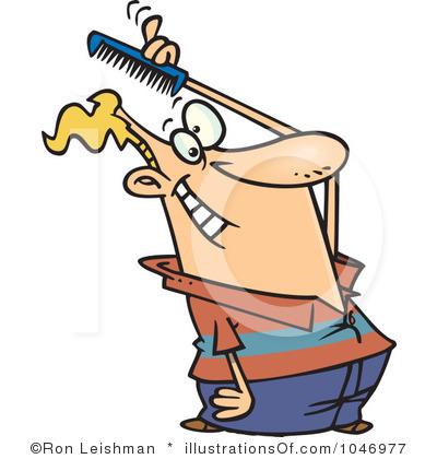 Boy Brushing Hair Clipart amp Clip Art Images 14790
