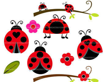 Ladybug On Flower Clipart | Clipart Panda - Free Clipart Images