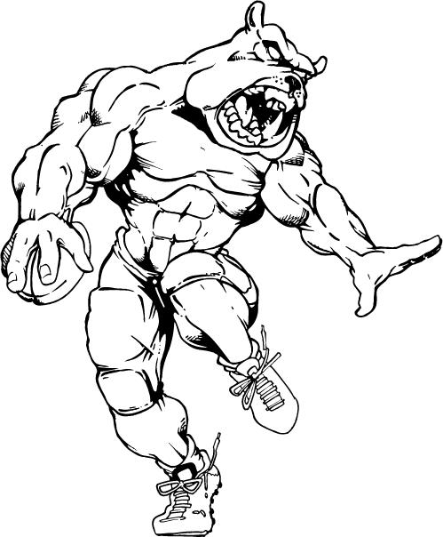 Bulldog Football Mascot | Clipart Panda - Free Clipart Images