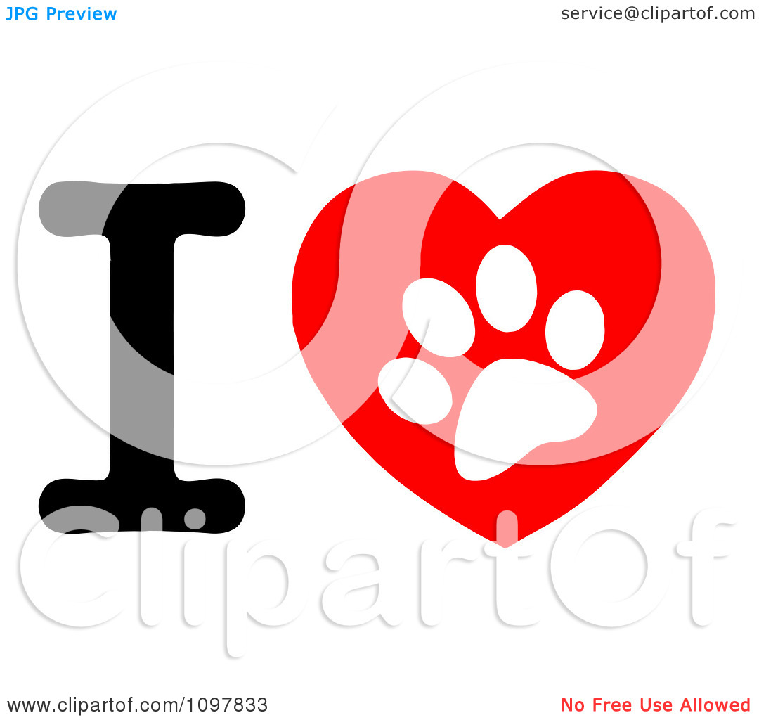 bulldog-paw-print-Clipart-White-Paw-Print-In-A-Heart-And-Letter-I ...