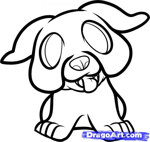 how to draw so cute puppy