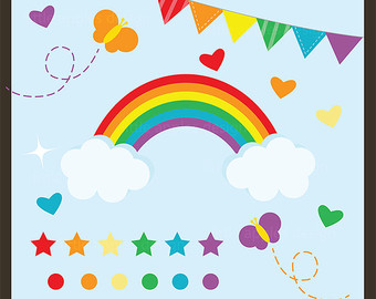 Rainbow Stars Clipart | Clipart Panda - Free Clipart Images