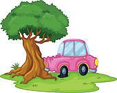 Tree Car Crash Clipart