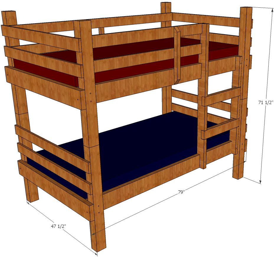 Bunk Bed Plans | Clipart Panda - Free Clipart Images