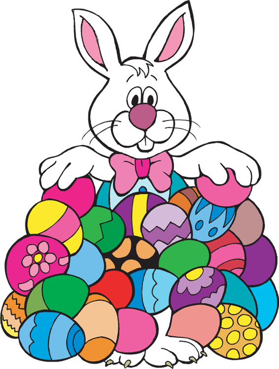 Easter Bunny With Eggs Clipart | Clipart Panda - Free ...