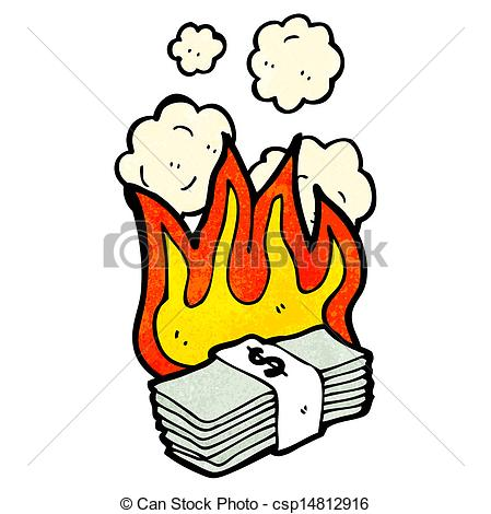 Burning Wood Clipart Vector - cartoon burni...