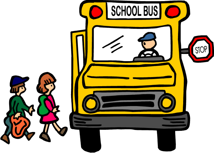 Image of School Bus with kids loadin