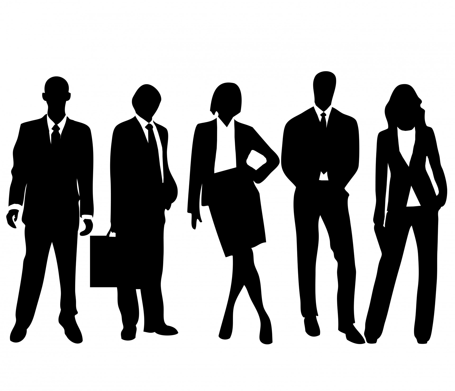 Business Person Silhouette Clipart