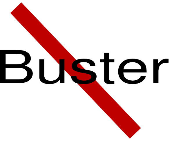 No Buster clip art - vector