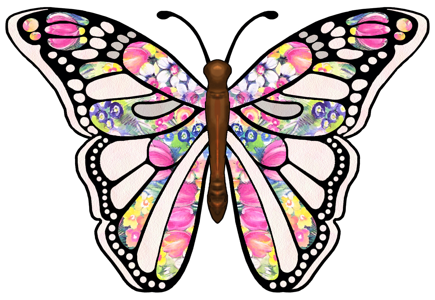 Butterfly clipart clipart panda free clipart images for Butterfly art and craft