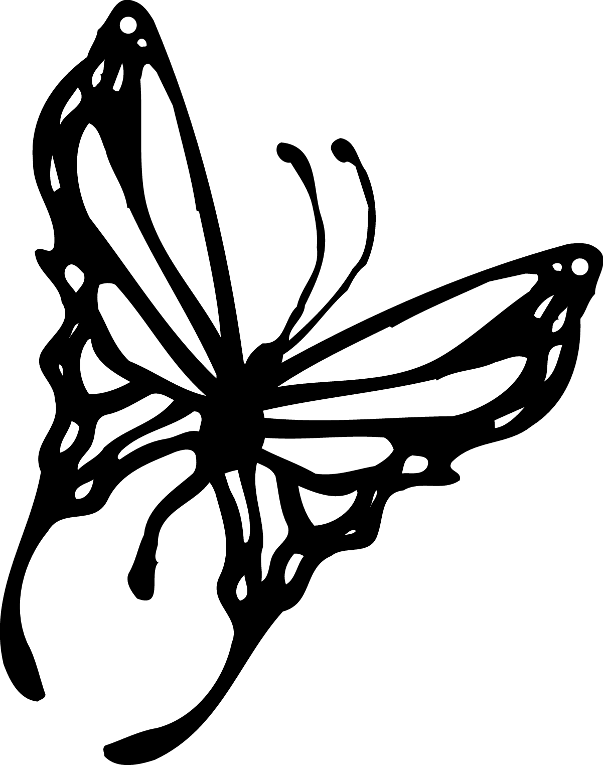 Butterfly Clip Art Black And White | Clipart Panda - Free ...