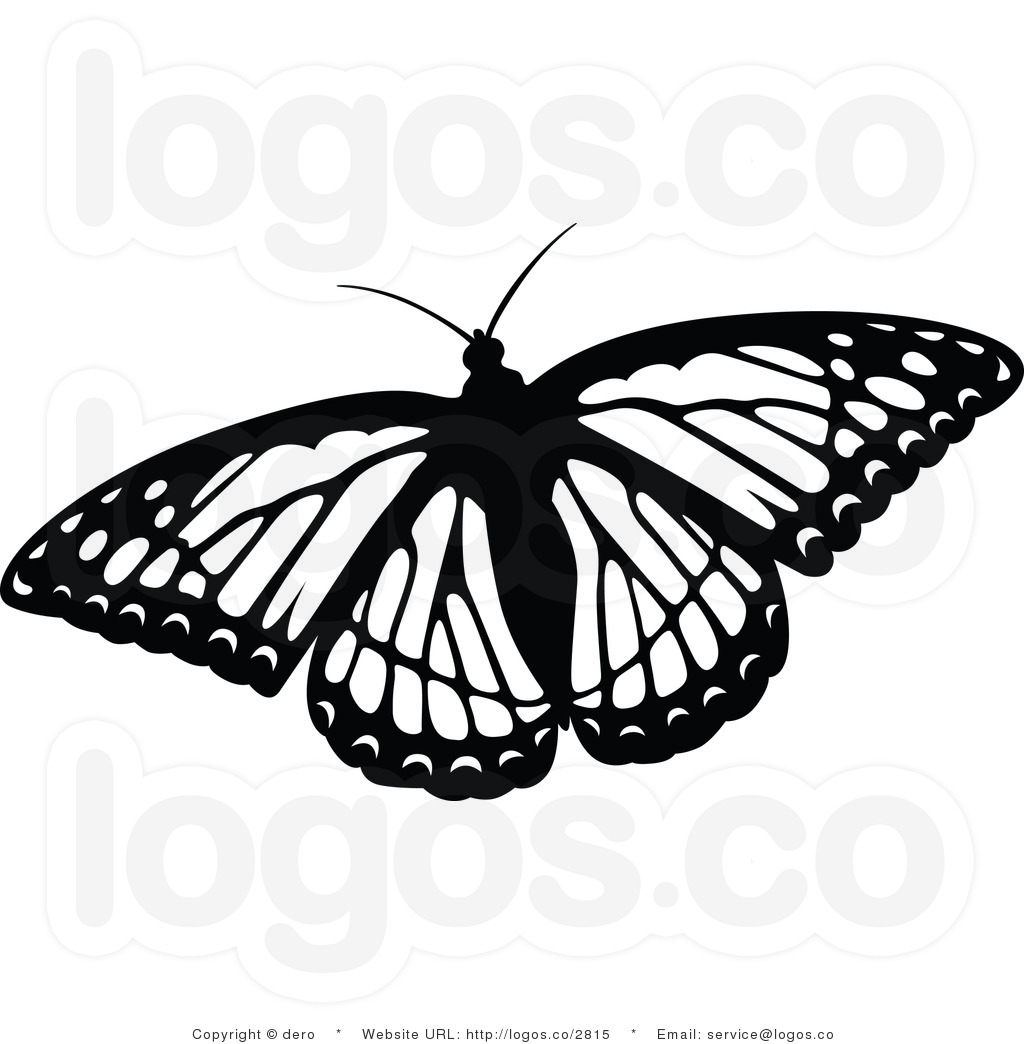 butterfly clip art black and white clipart panda free