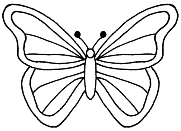 Line Art Of Butterfly : Butterfly flying outline clipart panda free